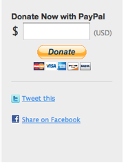 PayPal Online Donations form