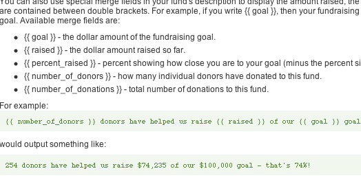 Customizing Donor Tools Fundraising Pages 10