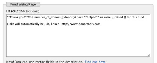 Customizing Donor Tools Fundraising Pages 6
