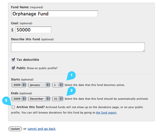 Funds Form